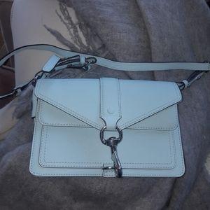 Rebecca Minkoff light blue crossbody handbag